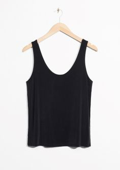 & Other Stories image 2 of Cupro Tank Top in Black