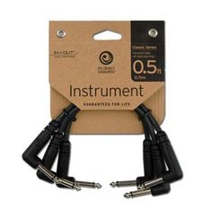 """3-PACK - Planet Waves PW-CGTP-305 0.5 ft. Classic Series 1/4 Patch Cable - AUTHORIZED Electronics DISTRIBUTOR """" by Planet Waves. $10.82. Featuring our exclusive In=Out? technology, Planet Waves cables offer extremely low capacitance for pure signal transparency. Classic Series cables feature nickel-plated plugs, ultra-pure oxygen-free copper conductors, dense shielding that virtually eliminates triboelectric (handling) noise, and molded strain relief for ultima..."""