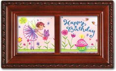 Birthday Fairy Petite Woodgrain Music Box Plays Happy Birthday *** Remarkable product available now. : Home Decorative Accessories