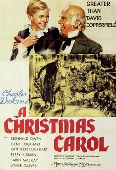A Christmas Carol vintage movie poster