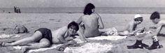On the beach, Rimini, Italy, 1968.
