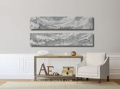 Silver metal abstract Painting/ 2 painting by TwistOfUnique