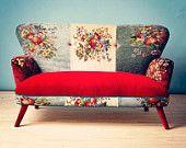 Patchwork sofa with Suzani fabrics - 3 seats. $2,500.00, via Etsy.