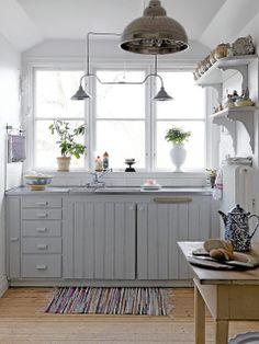 Sfeervolle keuken in landelijke stijl by brocantepost, via Flickr