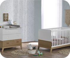 Mini-Chambre Bébé Aloa Blanche et Bois