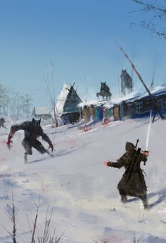 A Very Severe Winter by Jakub Rozalski