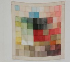 Korean patchwork called 'jogakbo' want to try this someday! Watercolor Quilt, Quilt Modernen, Do It Yourself Inspiration, Textiles, Fabric Art, Quilting Designs, Textile Art, Fiber Art, Quilt Patterns