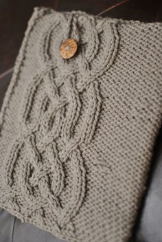 Cable iPad Cover Knit Pattern by TheBabyOwl on Etsy, $3.00