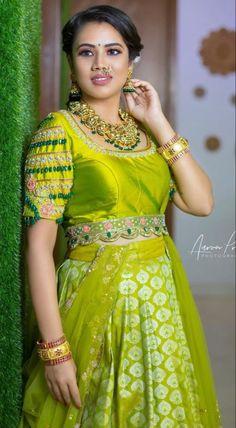 Lehenga Gown, Lehenga Style, Saree, Designer Blouse Patterns, Blouse Designs, Designer Wear, Designer Dresses, Long Gown Design, Mirror Work Lehenga