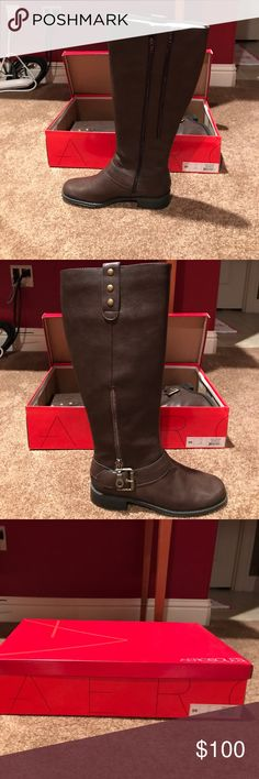 Aerosoles size 9 boots. Brand new. Aerosoles Easy Rider boots in brown. Brand new in box. AEROSOLES Shoes Over the Knee Boots