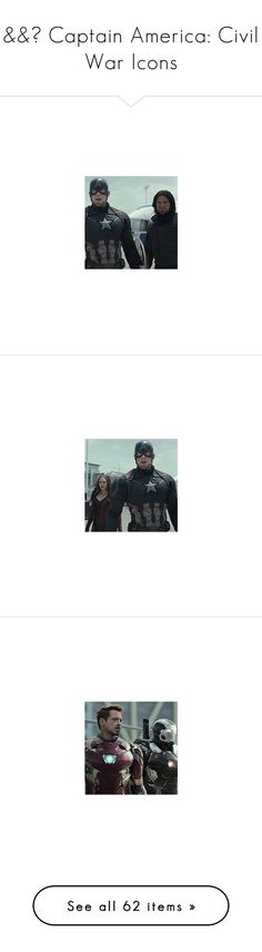 """&&☾ Captain America: Civil War Icons"" by the-forgotten-wolf ❤ liked on Polyvore featuring bucky barnes and marvel"