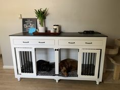 Double dog kennel for 2 large dogs Custom large dog crate Wood Dog Crate, Dog Crate Furniture, Diy Dog Crate, Furniture Dog Kennel, Furniture Stores, Double Dog Crate, Large Dog Crate, Large Dogs, Small Dogs