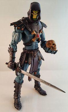 Skeletor (Marvel Legends) Custom Action Figure by TOKEN Base figure: Steve Rogers, Wrarrl, and 200X Skeletor
