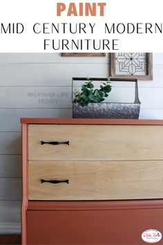 Give your mid century modern furniture a fresh makeover with Chalk Mineral Paint! This is the perfect dresser with a custom color mix with 3 parts Rusty Nail, 3 parts Colonel Mustard, and 1 part Chocolate! Painting Furniture, Furniture Projects, Orange Painted Furniture, The Joy Of Painting, Paint Companies, Dixie Belle Paint, Bedroom Green, Mineral Paint