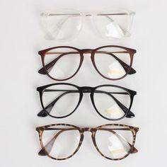 cb30507a4b NEW Men Women Unisex Nerd Geek Clear Lens Eyewear Retro Wayfarer Glasses
