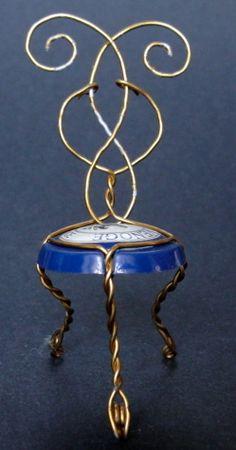 Chaise, chair, sedia - Designed by Gilles Tonnelé - Champagne De Venoge - muselet, placomusophile