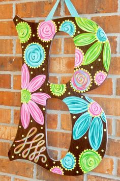 Large+Door+Hanger+Letters+with+Bows+or+by+OnTheBrightSideArt,+$47.00