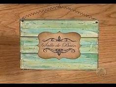 Sabor Artesanatos - Plaquinha Decorativa | 31 de Julho de 2012 - YouTube