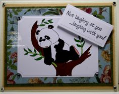 This month OCS is featuring all cards by High Hopes Rubber stamps.  This is Posing Panda done by Sue.  Check out the blog for more info on this adorable card.