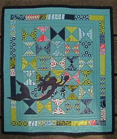 Adore this Tula Pink Neptune mini quilt that was a DQS6 item!  /////  DQS6 Received! by j_q_adams, via Flickr