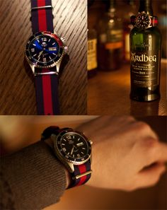 Orient Mako - Custom Red Blue Strap
