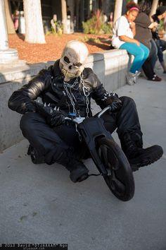 Freakin' Good Cosplay - Ghost Rider is Big Wheelin' it.