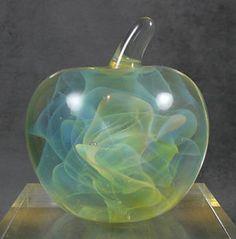 Blown Glass Art | 1980-NORTH-CAROLINA-STUDIO-ART-GLASS-BLOWN-APPLE-PAPERWEIGHT-GILBERT ... Glass Paperweights, Glass Vase, Top 10 Healthy Foods, Steuben Glass, Fun Fruit, Rose Family, Blown Glass Art, Marble Art, Best Fruits