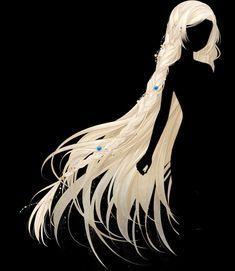 Manga Hair, Anime Hair, Female Character Design, Character Art, Anime Girl Hairstyles, Long White Hair, Art Style Challenge, Pelo Anime, Angel Artwork