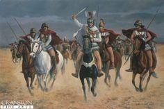 Alexander at Arbela, Plain of Gaugamela, Iraq, 331BC by David Pentland.