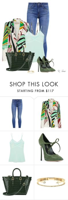 """""""Blazer & Jeans"""" by ksims-1 ❤ liked on Polyvore featuring Levi's, Emilio Pucci, Mimi Holliday by Damaris, Casadei, Aspinal of London, Delfina Delettrez and Anne Klein"""