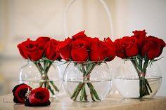 Red Rose Centerpiece   Fairytale Wedding I Beauty and the Beast Wedding Ideas