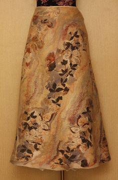 Leaves Fall / Felted Clothing / Skirt by LybaV on Etsy, $350.00
