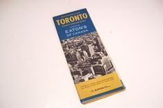 1962 Vintage Eatons of Canada Toronto Visitors Street Map Guide by okanaganvintage on Etsy
