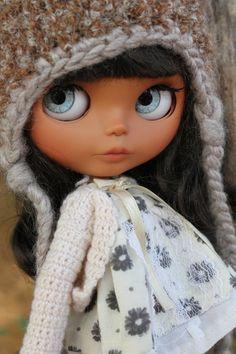Custom OOAK Blythe Doll. Tan Skinned Blythe by by AdorablyMini
