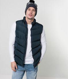 Blue Sleeveless Jacket Mens Gilet Bodywarmer Fleece Lined Padded Jacket New tags Sleeveless Jacket, Padded Jacket, Winter Jackets, Tags, Blue, Men, Fashion, Mens Winter Jackets, Moda