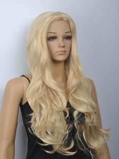 Dreamlike+Long+Wavy+Blonde+Synthetic+Hair+Costume+Wig+28+Inches