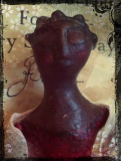 recycled cloth clay doll