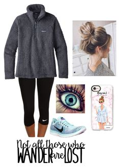 """""""ready for spring ."""" by itsallison-m ❤ liked on Polyvore featuring NIKE, Patagonia and Casetify"""