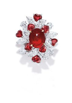 4.68 CARAT BURMESE RUBY AND DIAMOND RING, BY FAIDEE