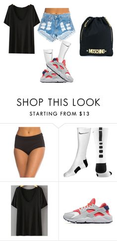"""""""lazy"""" by shayla-nikole on Polyvore featuring Coco Reef, NIKE and Moschino"""