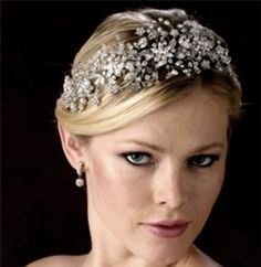 Edward Berger Swarovski crystal Couture Headpiece - 6904 - SPECIAL