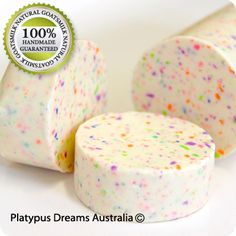 Soap logs - called soap sausages.  Interesting.  Love the speckles! AU 12.50.  From Platypus Dreams