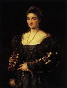 TIZIANO Vecellio La Bella 1536 Oil on canvas, 89 x 76 cm Galleria Palatina (Palazzo Pitti), Florence
