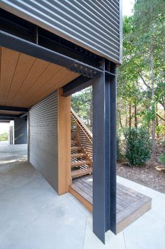 Image 45 of 46 from gallery of North Fork Bay House / Resolution: 4 Architecture. Photograph by Resolution: 4 Architecture Architecture Images, Architecture Details, Steel Structure Buildings, House On Stilts, Steel House, Industrial House, Prefab Homes, Modern House Design, House Plans