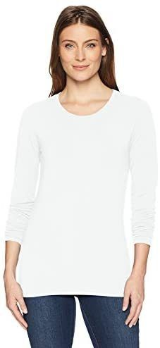 Essentials Womens Classic-Fit Long-Sleeve Crewneck T-Shirt