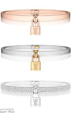 Louis Vuitton Lockit Bracelets  |  louis vuitton