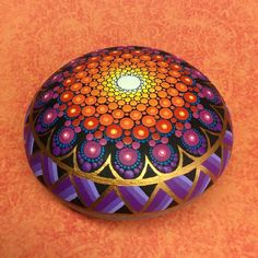 Your place to buy and sell all things handmade Mandala Painting, Dot Painting, Stone Painting, Mandala Painted Rocks, Mandala Rocks, Painted Stones, Shell Art, Stone Carving, Pebble Art
