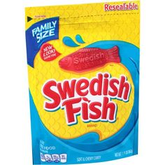Get the candy you love delivered straight to your door. Swedish Fish Soft & Chewy Candy (Original, Bulk Bag) About the product Fresh lock resealable bag Fat free food Made in Canada Bulk Candy, Free Candy, Candy Store, Gourmet Recipes, Snack Recipes, Snacks, Swedish Fish Candy, Gummy Fish, Vegan Candies
