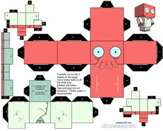 Espacio Raro: Paper Toys Futurama