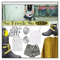 """So Fresh and So Keen: Contest Entry"" by amazingmeraff ❤ liked on Polyvore featuring Keen Footwear, Chicwish, American Apparel, Splendid, Fendi, Linda Farrow and keen"